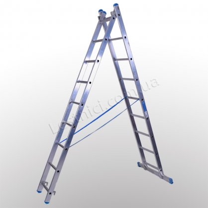 Лестница TUBESCA StarLine S+ двухсекционная раскладная 2 × 9 (алюминиевая, универсальная)