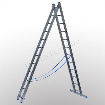 Лестница TUBESCA StarLine S+ двухсекционная раскладная 2 × 12 (алюминиевая, универсальная)