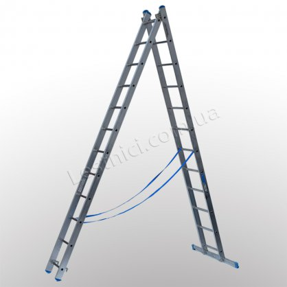 Драбина TUBESCA StarLine S+ двосекційна розкладна 2 × 12 (алюмінієва, універсальна)