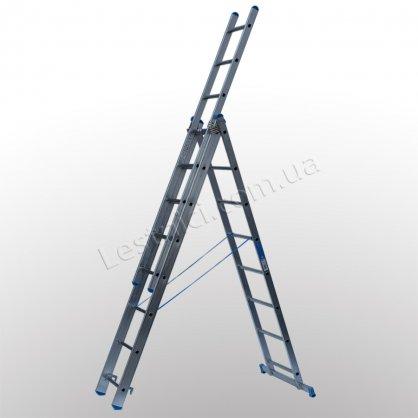 Лестница TUBESCA StarLine S+ трехсекционная раскладная 3 × 8 (алюминиевая, универсальная)