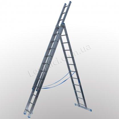 Драбина TUBESCA StarLine S+ трисекційна розкладна 3 × 12 (алюмінієва, універсальна)