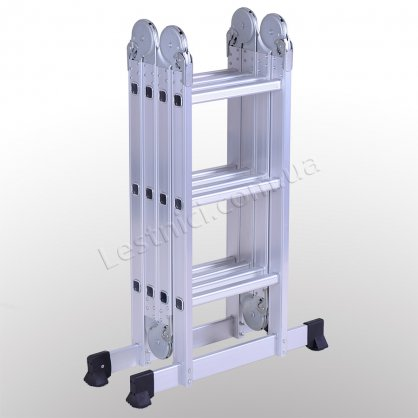 Драбина-трансформер професійна 3 × 4 (посилена, алюмінієва)