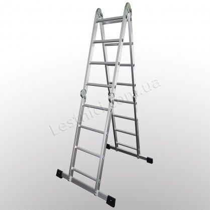 Лестница-трансформер профессиональная 4 × 4 (усиленная, алюминиевая)
