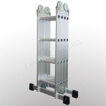 Драбина-трансформер професійна 4 × 4 (посилена, алюмінієва)