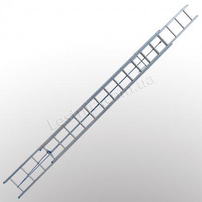 Лестница TUBESCA StarLine S+ двухсекционная выдвижная 2 × 16 (алюминиевая, универсальная)