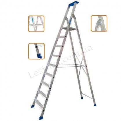 Стрем'янка професійна TUBESCA MAXIBAT 9 сходинок (алюмінієва)