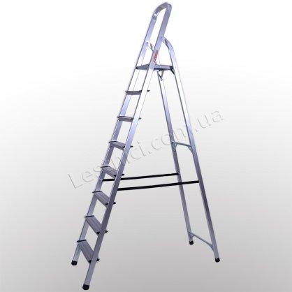 Стремянка ПРАКТИКА 8 ступеней (алюминиевая)
