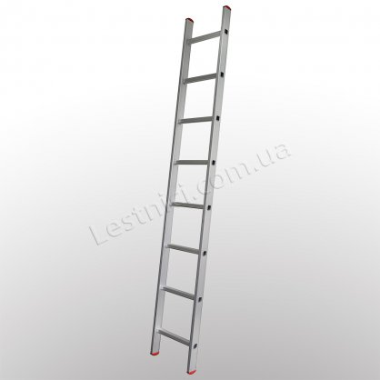 Лестница ПРАКТИКА приставная 1 × 8 (алюминиевая)
