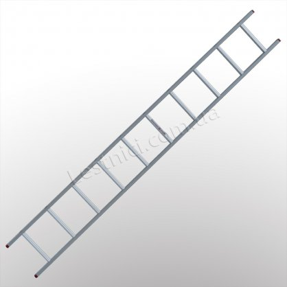 Лестница ПРАКТИКА приставная 1 × 10 (алюминиевая)