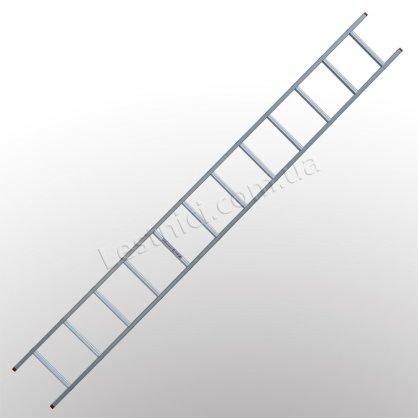 Лестница ПРАКТИКА приставная 1 × 12 (алюминиевая)