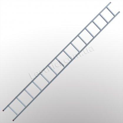 Лестница ПРАКТИКА приставная 1 × 14 (алюминиевая)