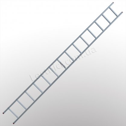 Драбина ПРАКТИКА приставна 1 × 14 (алюмінієва)