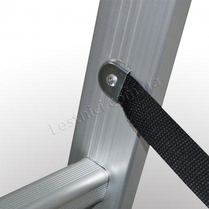 Лестница ПРАКТИКА двухсекционная раскладная 2 × 14 (алюминиевая, универсальная)