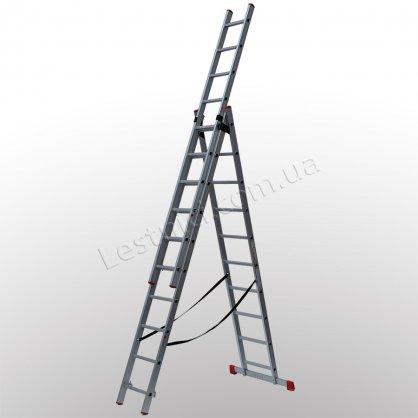 Драбина ПРАКТИКА трисекційна розкладна 3 × 10 (алюмінієва, універсальна)