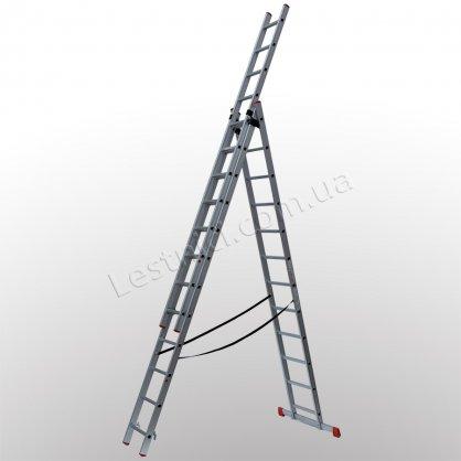 Лестница ПРАКТИКА трехсекционная раскладная 3 × 12 (алюминиевая, универсальная)