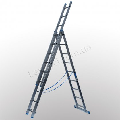 Драбина TUBESCA StarLine S+ трисекційна розкладна 3 × 9 (алюмінієва, універсальна)