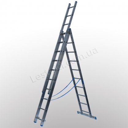 Драбина TUBESCA StarLine S+ трисекційна розкладна 3 × 10 (алюмінієва, універсальна)