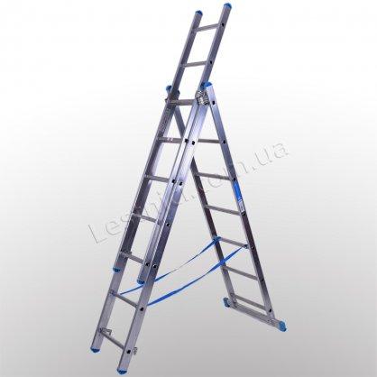 Лестница TUBESCA StarLine S+ трехсекционная раскладная 3 × 7 (алюминиевая, универсальная)