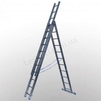 Драбина TUBESCA StarLine S+ трисекційна розкладна 3 × 11 (алюмінієва, універсальна)