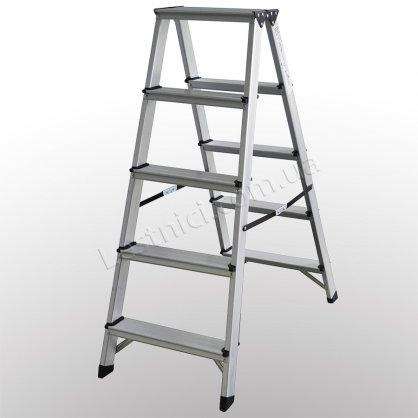 Стремянка ПРАКТИКА двухсторонняя 5 ступеней (алюминиевая)