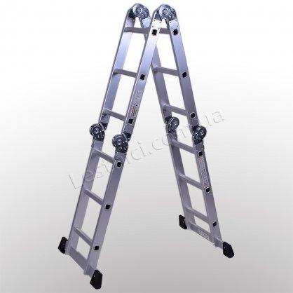 Лестница-трансформер ПРАКТИКА 3 × 4 (алюминиевая, универсальная)