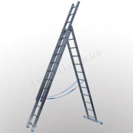 Лестница TUBESCA StarLine S+ трехсекционная раскладная 3 × 12 (алюминиевая, универсальная)