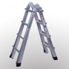 Лестница телескопическая ПРАКТИКА 4 × 4 (алюминиевая, универсальная)