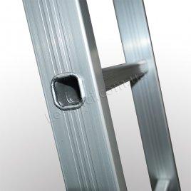 Драбина ПРАКТИКА двосекційна розкладна 2 × 14 (алюмінієва, універсальна)
