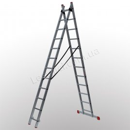 Лестница ПРАКТИКА двухсекционная раскладная 2 × 12 (алюминиевая, универсальная)