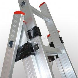 Драбина ПРАКТИКА трисекційна розкладна 3 × 14 (алюмінієва, універсальна)