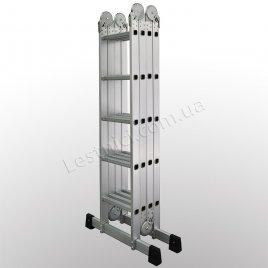 Лестница-трансформер профессиональная 5 × 4 (усиленная, алюминиевая)