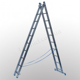 Драбина TUBESCA StarLine S+ двосекційна розкладна 2 × 10 (алюмінієва, універсальна)
