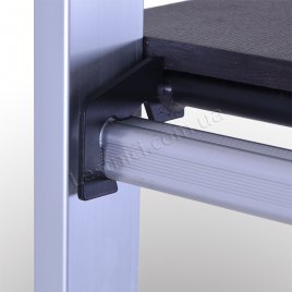 Лестница-подмости 2 × 8 (алюминиевая, универсальная)