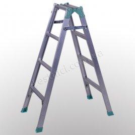 Лестница универсальная раскладная стремянка 2 × 4 (алюминиевая)