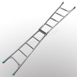 Лестница универсальная раскладная стремянка 2 × 5 (алюминиевая)