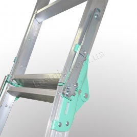 Драбина універсальна розкладна стрем'янка 2 × 4 (алюмінієва)