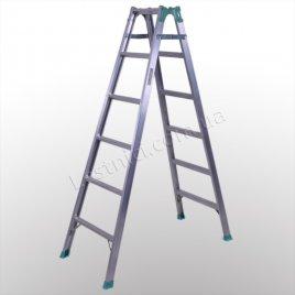Лестница универсальная раскладная стремянка 2 × 6 (алюминиевая)