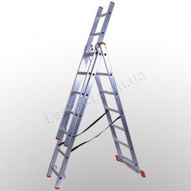Лестница STS трехсекционная раскладная 3 × 7 (алюминиевая, универсальная)