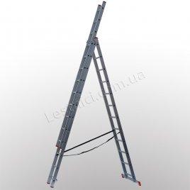 Лестница STS трехсекционная раскладная 3 × 12 (алюминиевая, универсальная)